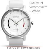 Garmin Vivomove|Analog Watch|Activity Tracker|Sleep Monitor|Sports Band|WHITE