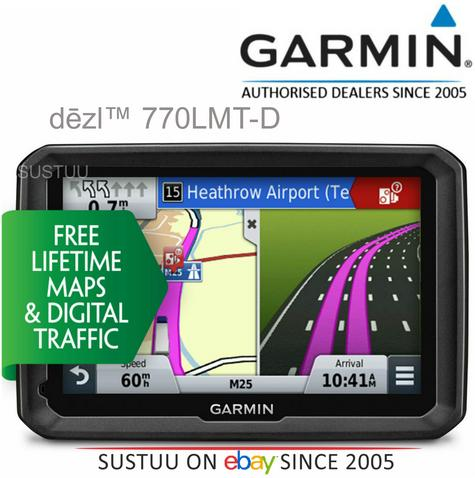 "Genuine Garmin Dezl 770LMT-D|7""GPS SatNav|Bluetooth|Truck HGV|Europe Map+Traffic Thumbnail 1"