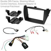 C2 KHY18 Double DIN Fascia With Steering Wheel Interface Full Kit / Hyundai IX35