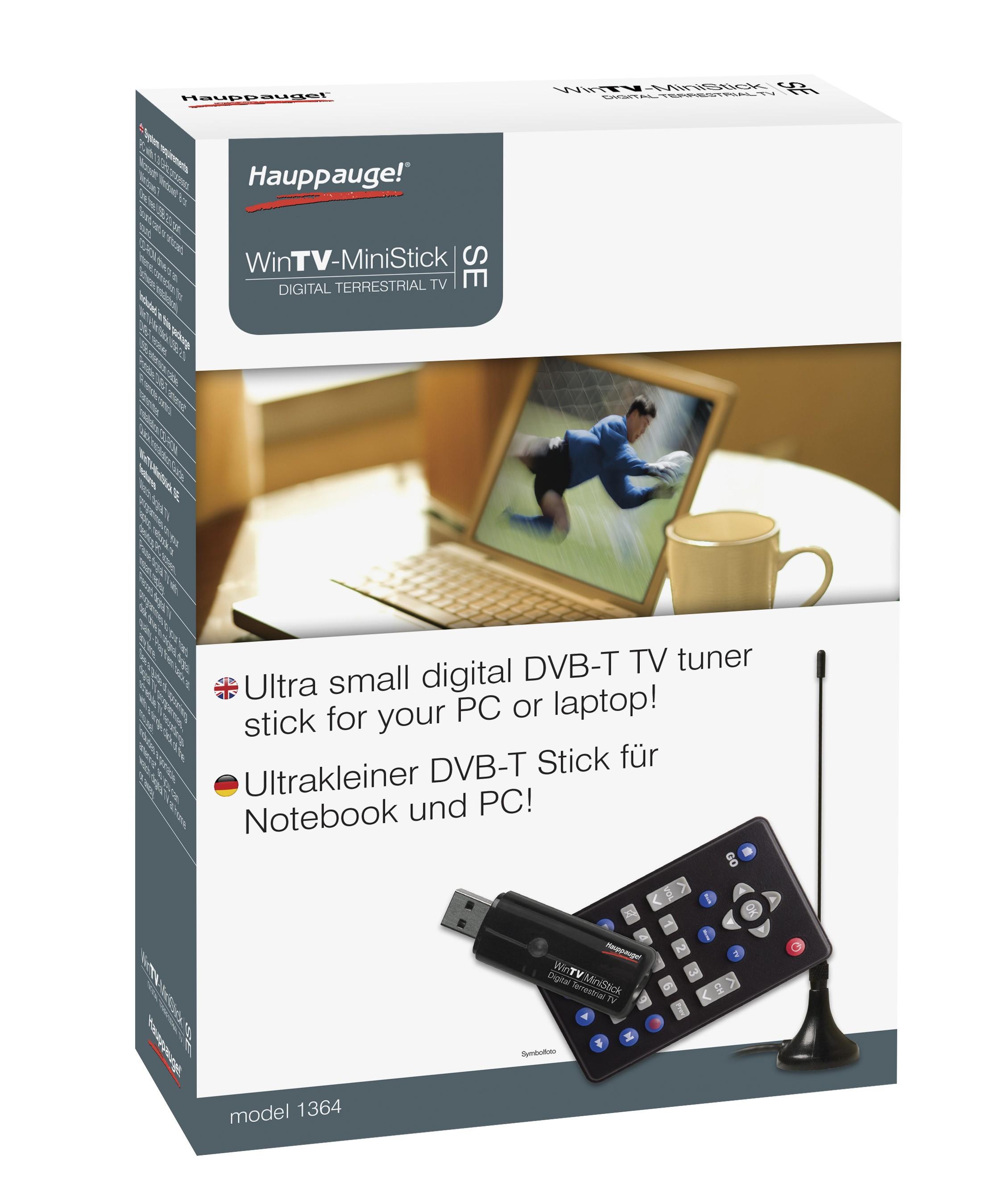 hauppauge wintv ministick dvb t fernseher tuner receiver. Black Bedroom Furniture Sets. Home Design Ideas