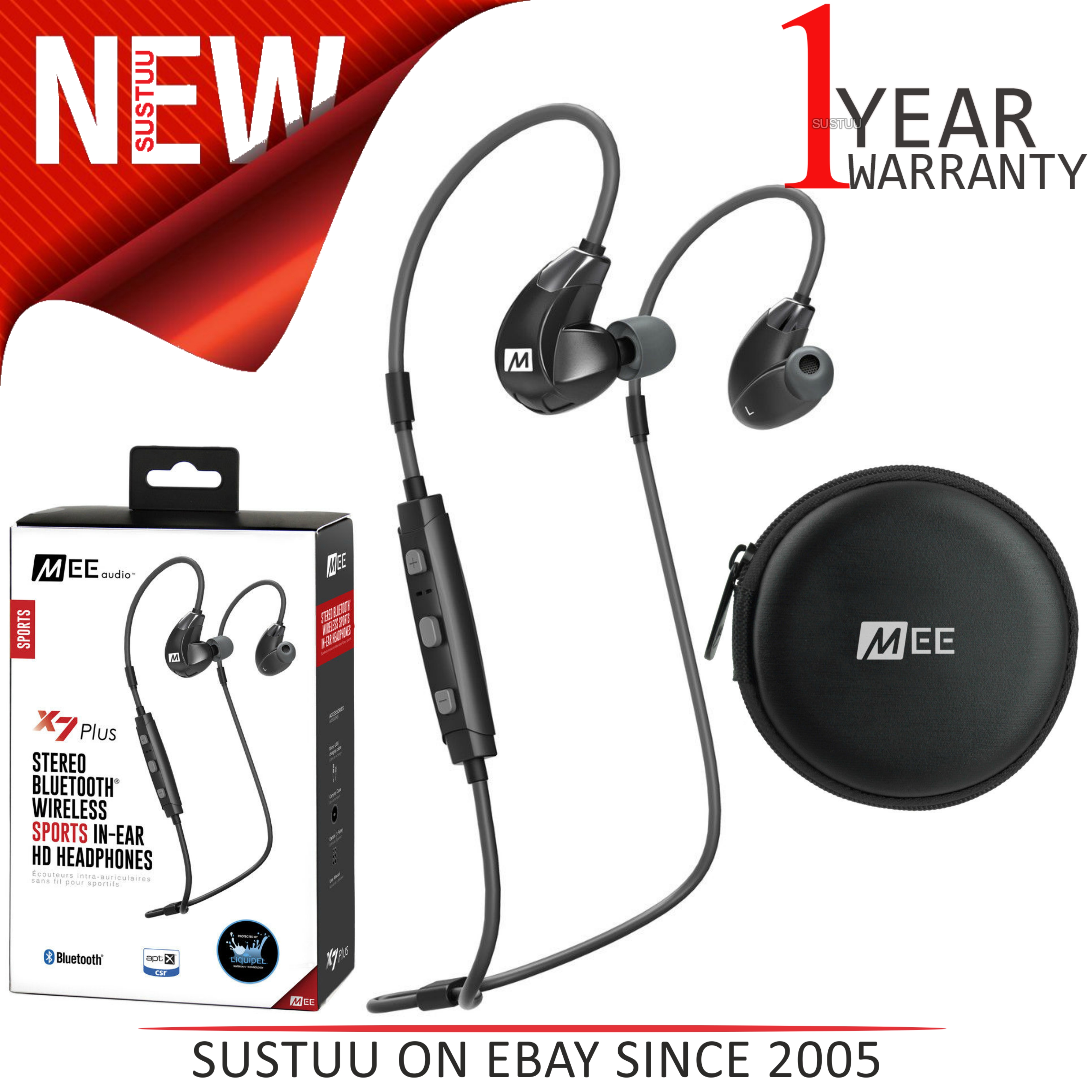 83cefd6e1c9 Details about MEE Audio X7 Plus In-Ear Stereo Bluetooth Wireless Sports  Headphone│Memory Wire