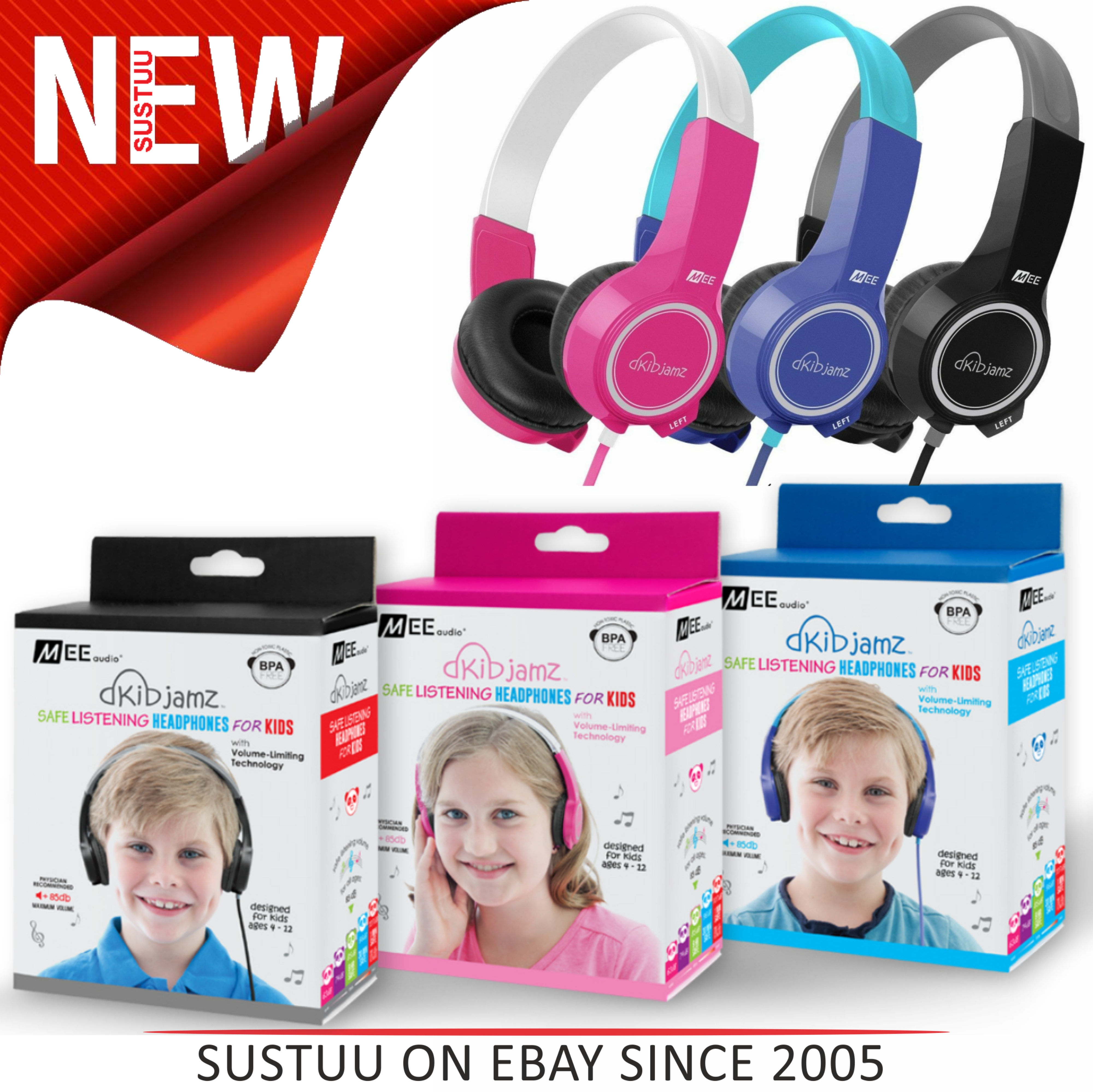 MEE Audio KidJamz KJ25 Safe Listening Headphones For Kids With Volume-Limit Technology
