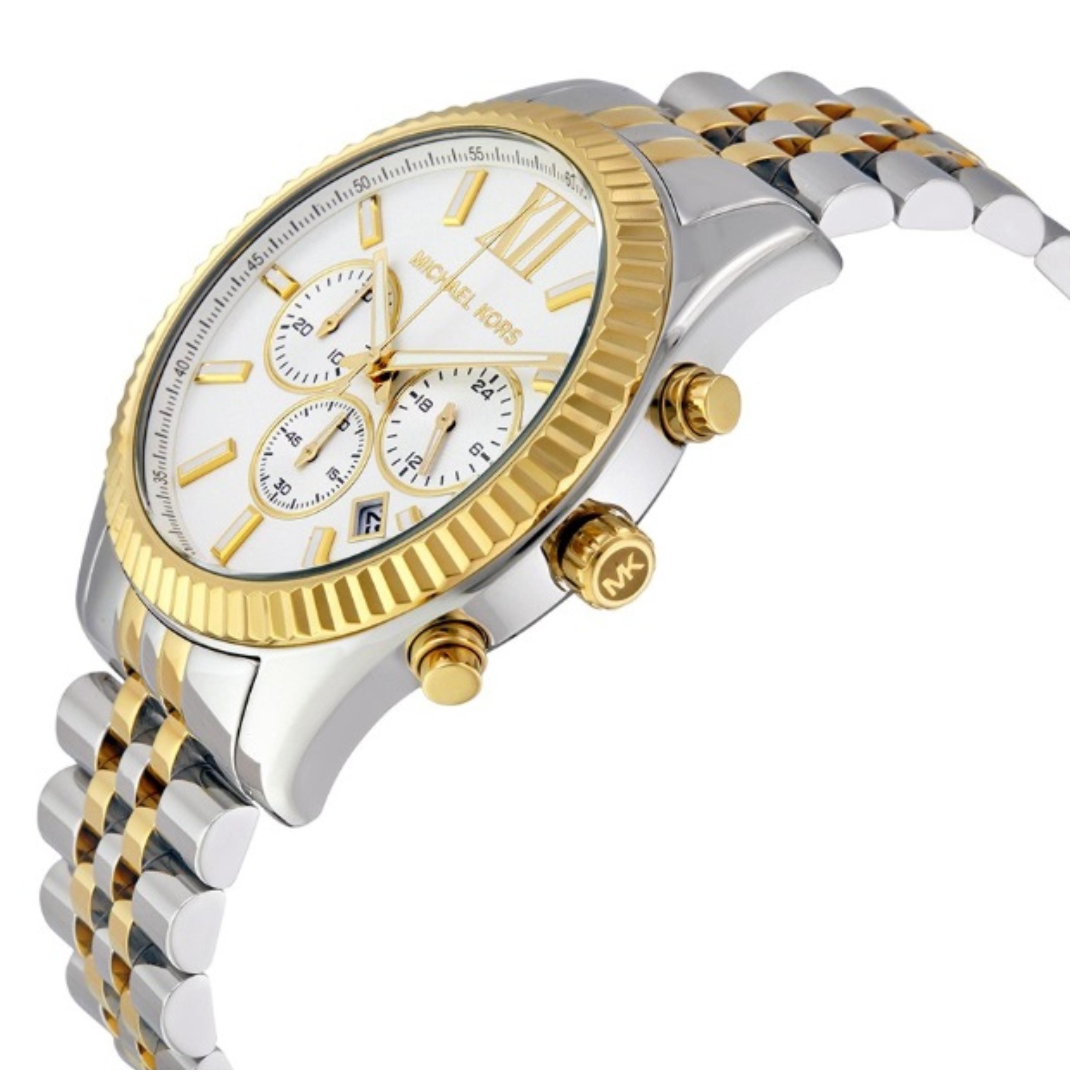 Sentinel Michael Kors Lexington Men s Formal Watch│Chronograph Dial│Two Tone  Strap│MK8344 8ed00873728