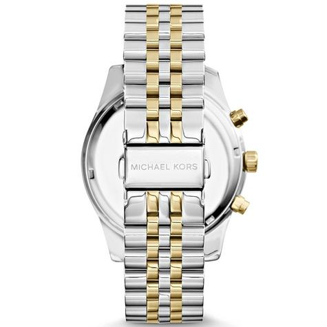 Michael Kors Lexington Gent's Two-Tone Gold & Silver Chronograph Watch MK8344 Thumbnail 3
