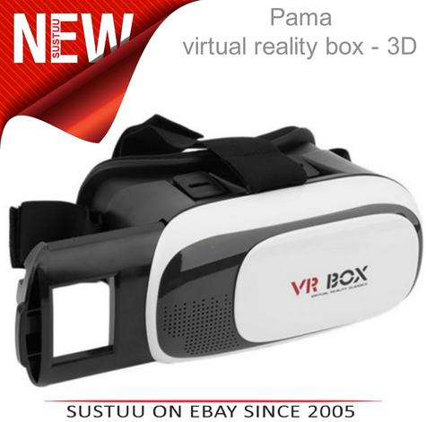 Pama VRB-3D Virtual Reality Glasses With Adjustable Lenses For Smart Phones -NEW Thumbnail 1
