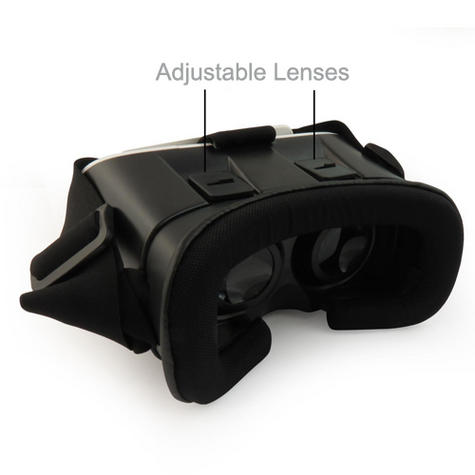 Pama VRB-3D Virtual Reality Glasses With Adjustable Lenses For Smart Phones -NEW Thumbnail 4