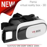 Pama VRB-3D Virtual Reality Glasses With Adjustable Lenses For Smart Phones -NEW