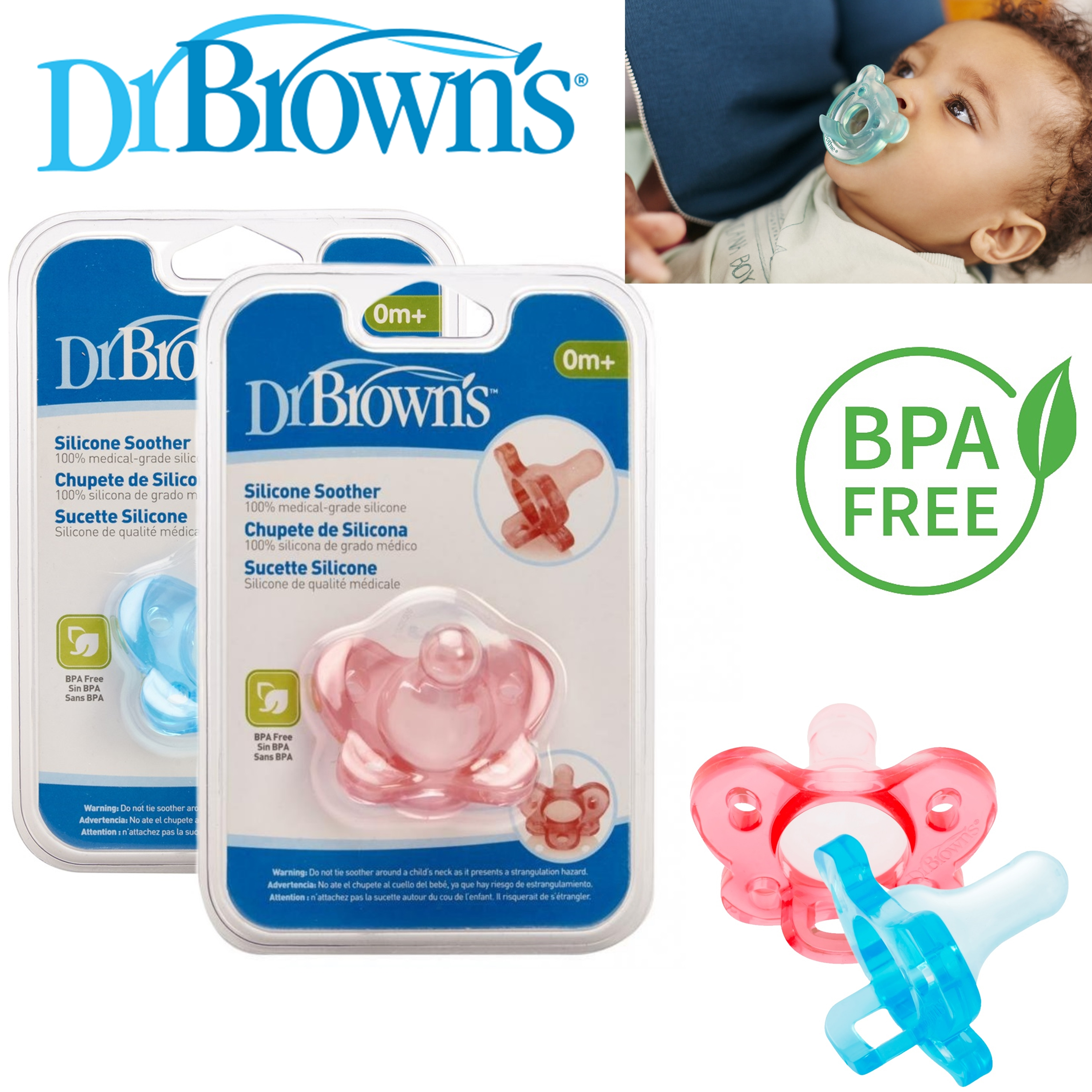 dr brown's baby new one pices options silicone infant orthodontic