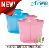 Dr Brown's Infant Easy Travel Storage Baby Milk Powder Dispenser Container Pot