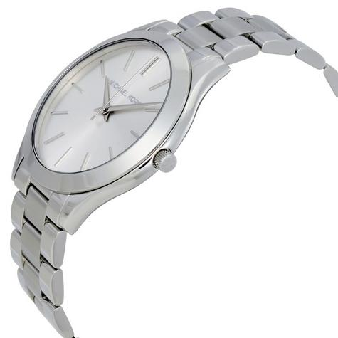 Michael Kors Ladies Ultra Slim Runway Silver-Tone Bracelet Designer Watch MK3178 Thumbnail 2