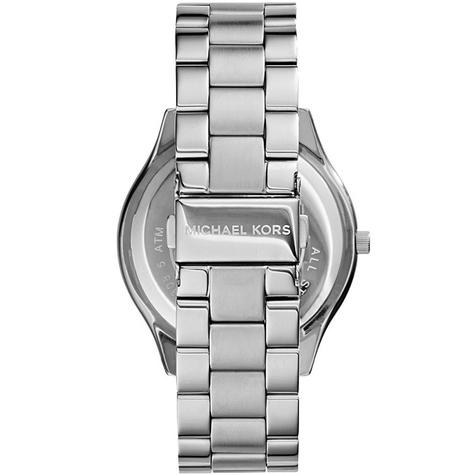 Michael Kors Ladies Ultra Slim Runway Silver-Tone Bracelet Designer Watch MK3178 Thumbnail 4