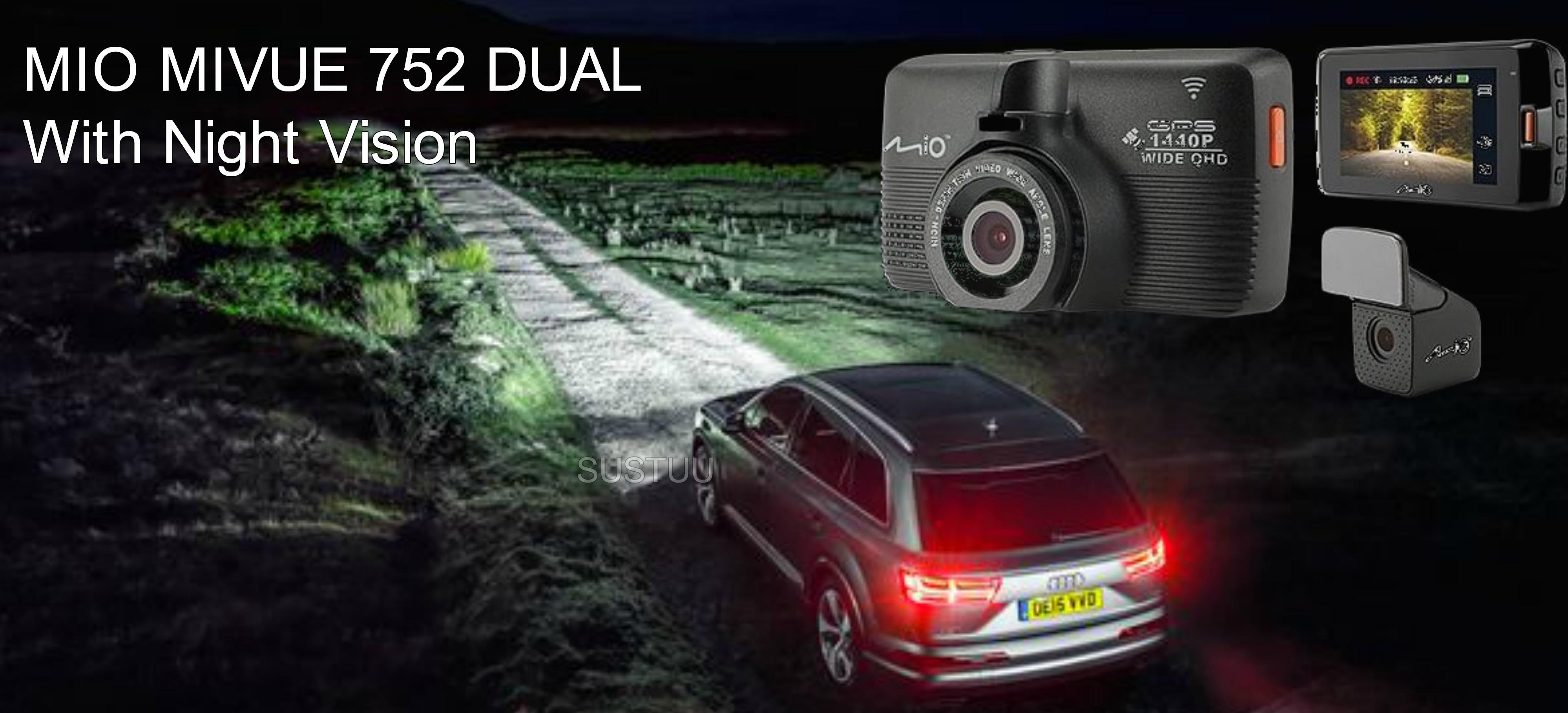 Details about Mio Mivue 752 WIFI Dual GPS Car Dash Camera│1440P QHD Video  Recording│G-sensor