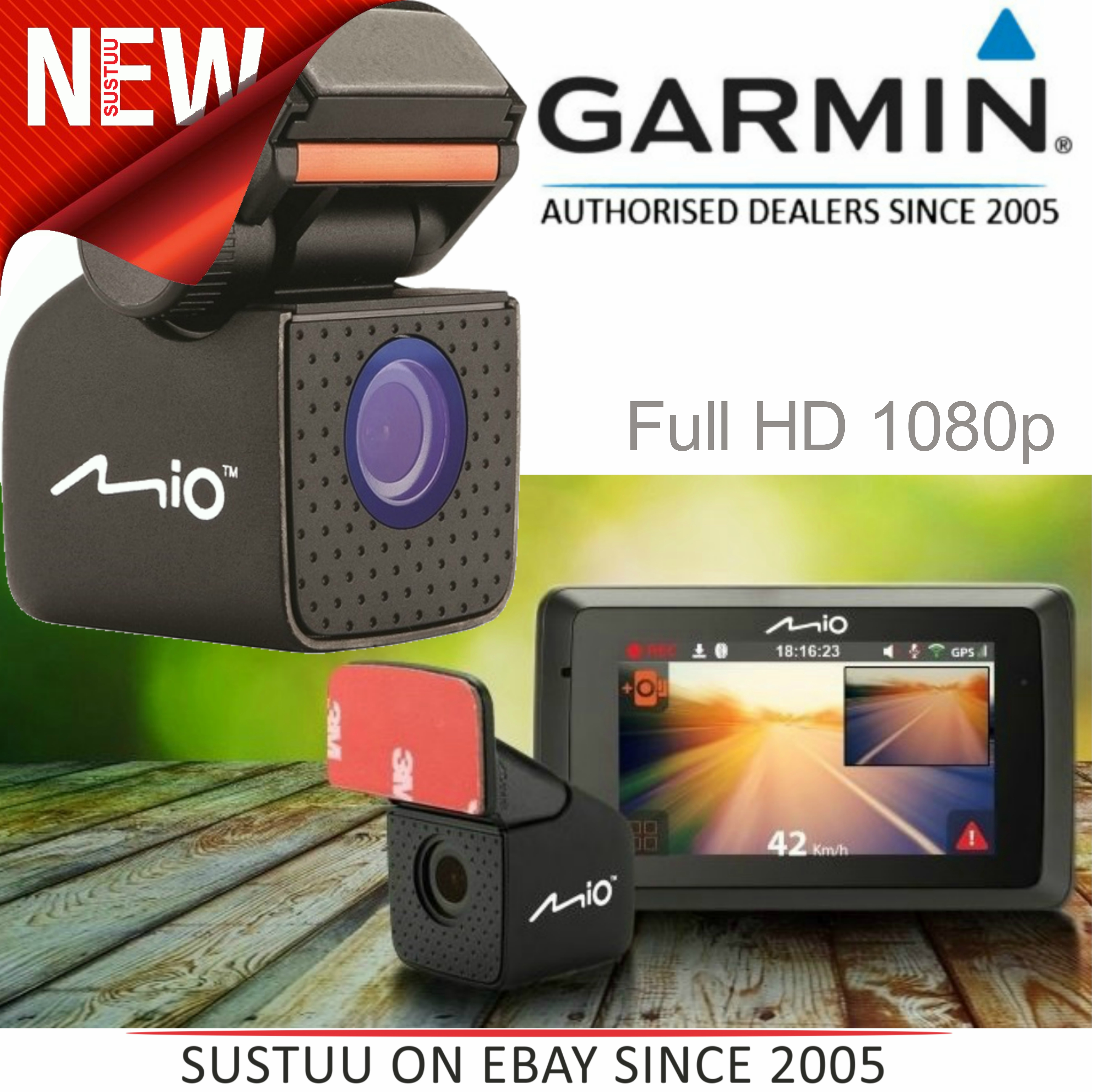 Mio MiVue A20|1080p Full HD Rear Dash Cam|Parking/ Back View Event Recording|For Drive 55 / 65 Truck |New