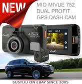 Mio Mivue 752 WIFI Dual|HD Recording|GPS Car Dash & Rear Camera|32GB SD Card|NEW
