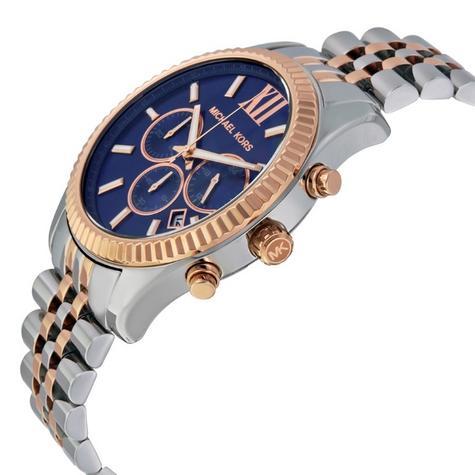 Michael Kors Gent's Lexington Two-Tone Chronograph Stainless Steel Watch MK8412 Thumbnail 3