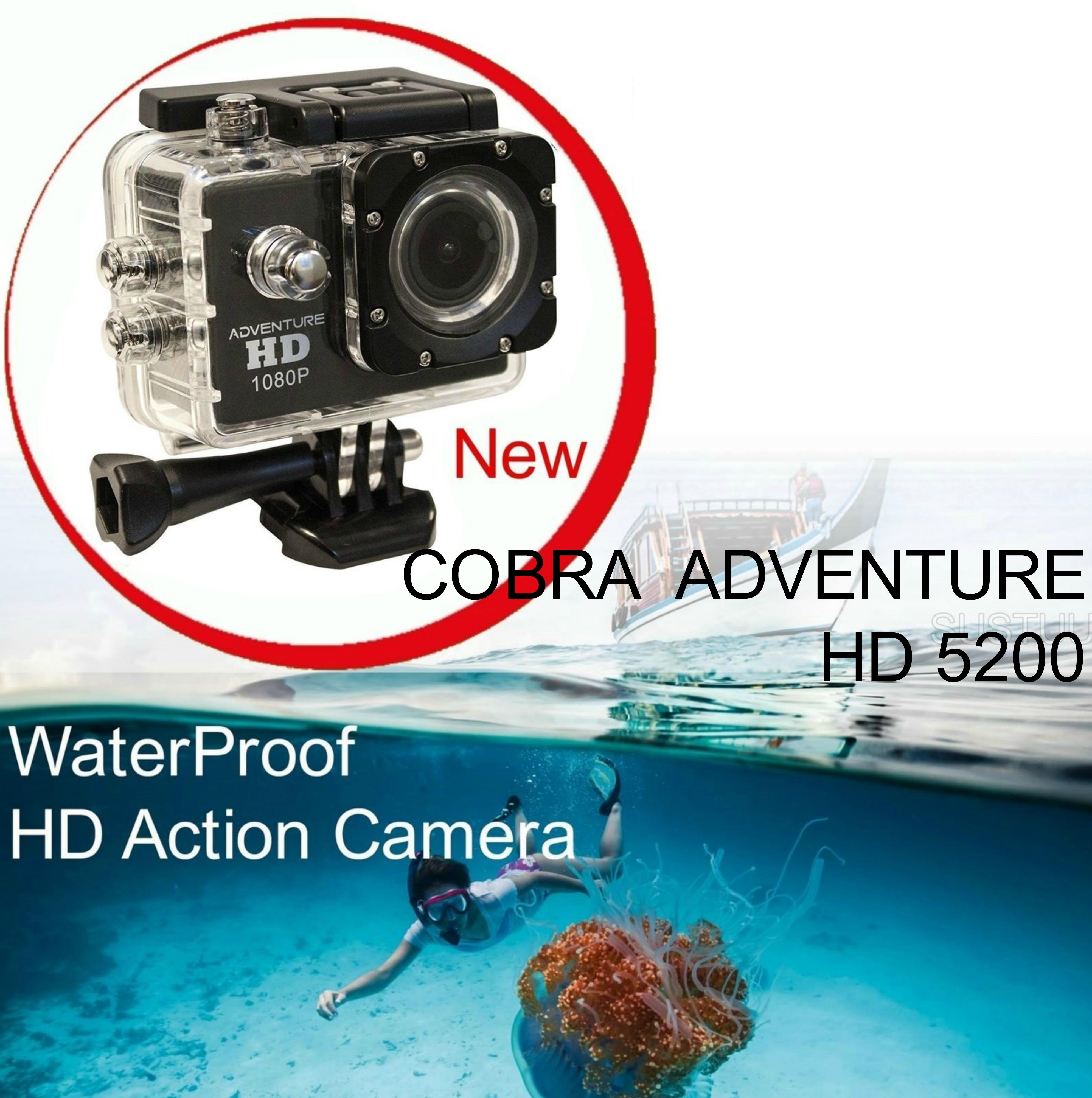 Cobra Adventure HD 5200|Action Camera 1080p|Waterproof <30Mtr|Underwater-Other Sports Recording