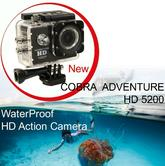 Cobra Adventure HD 5200|Action Camera 1080p|Waterproof <30Mtr|Underwater-Other Sports Recording