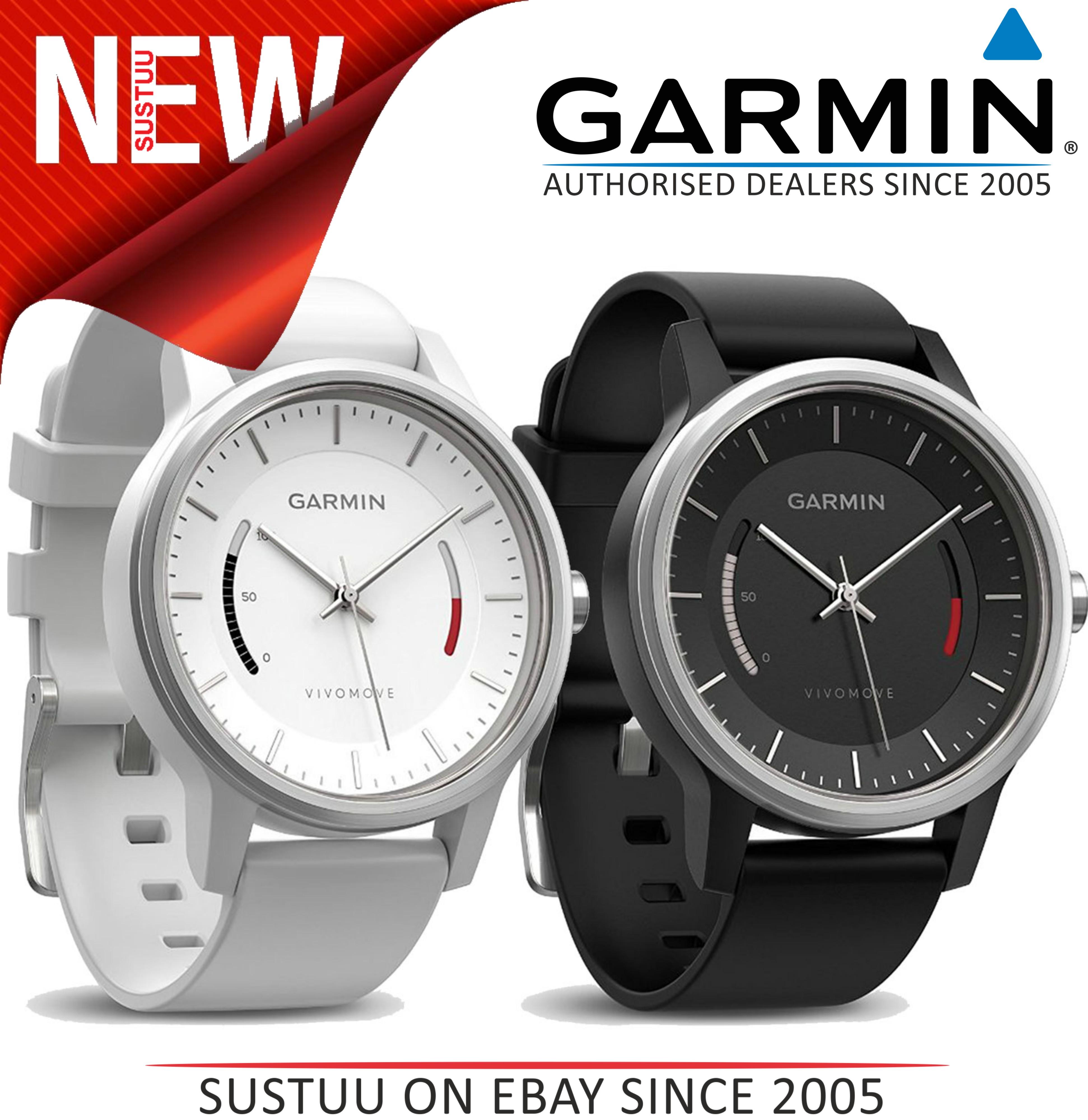 Garmin Vivomove?Analog Smart Watch?Activity Tracker?Sleep Monitor?White - Black