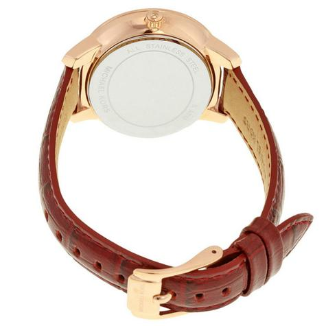 Michael Kors Whitley Burgundy Womens' Rose Gold Round Dial Strap Watch MK2430 Thumbnail 4