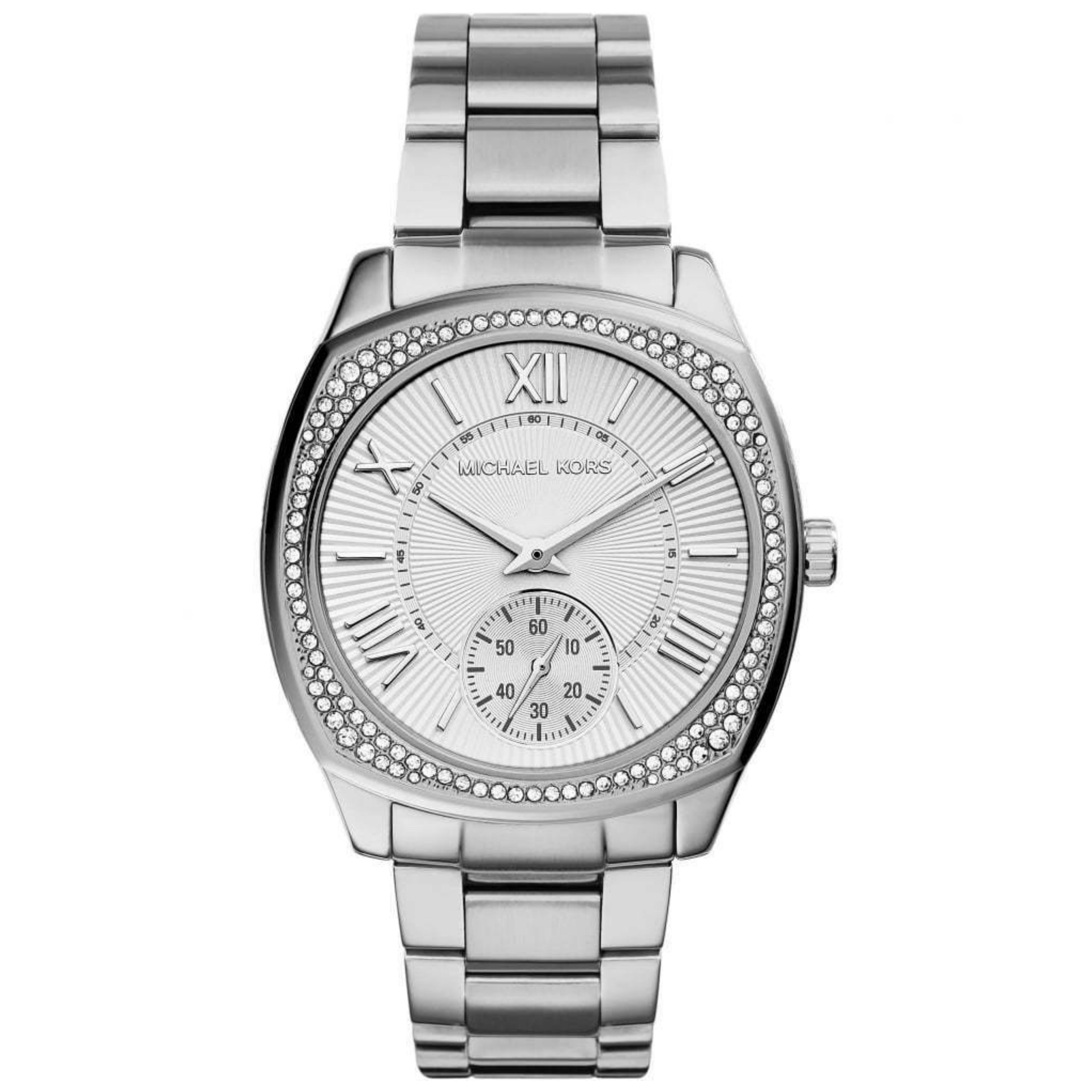Michael Kors Bryn Stainless Steel Silver Dial Ladies Bracelet Round Watch MK6133