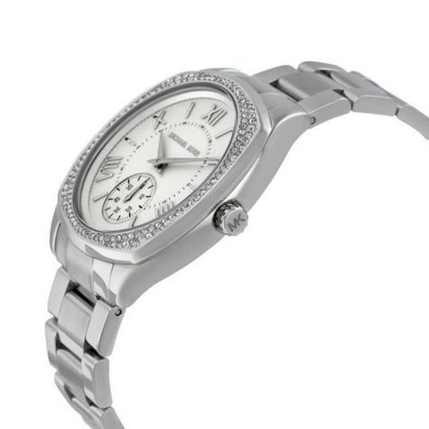 Michael Kors Bryn Stainless Steel Silver Dial Ladies Bracelet Round Watch MK6133 Thumbnail 2
