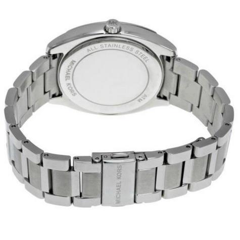 Michael Kors Bryn Stainless Steel Silver Dial Ladies Bracelet Round Watch MK6133 Thumbnail 5