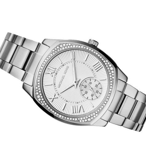 Michael Kors Bryn Stainless Steel Silver Dial Ladies Bracelet Round Watch MK6133 Thumbnail 6