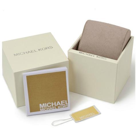 Michael Kors Mini Parker Chrono Multi Function Ladies Rose Gold Tone Round Watch Thumbnail 5