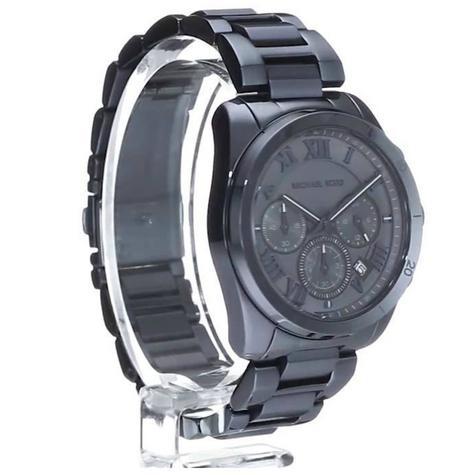 Michael Kors Brecken Men's Blue Ion Plated Round Chrono Bracelet Watch MK6361 Thumbnail 5
