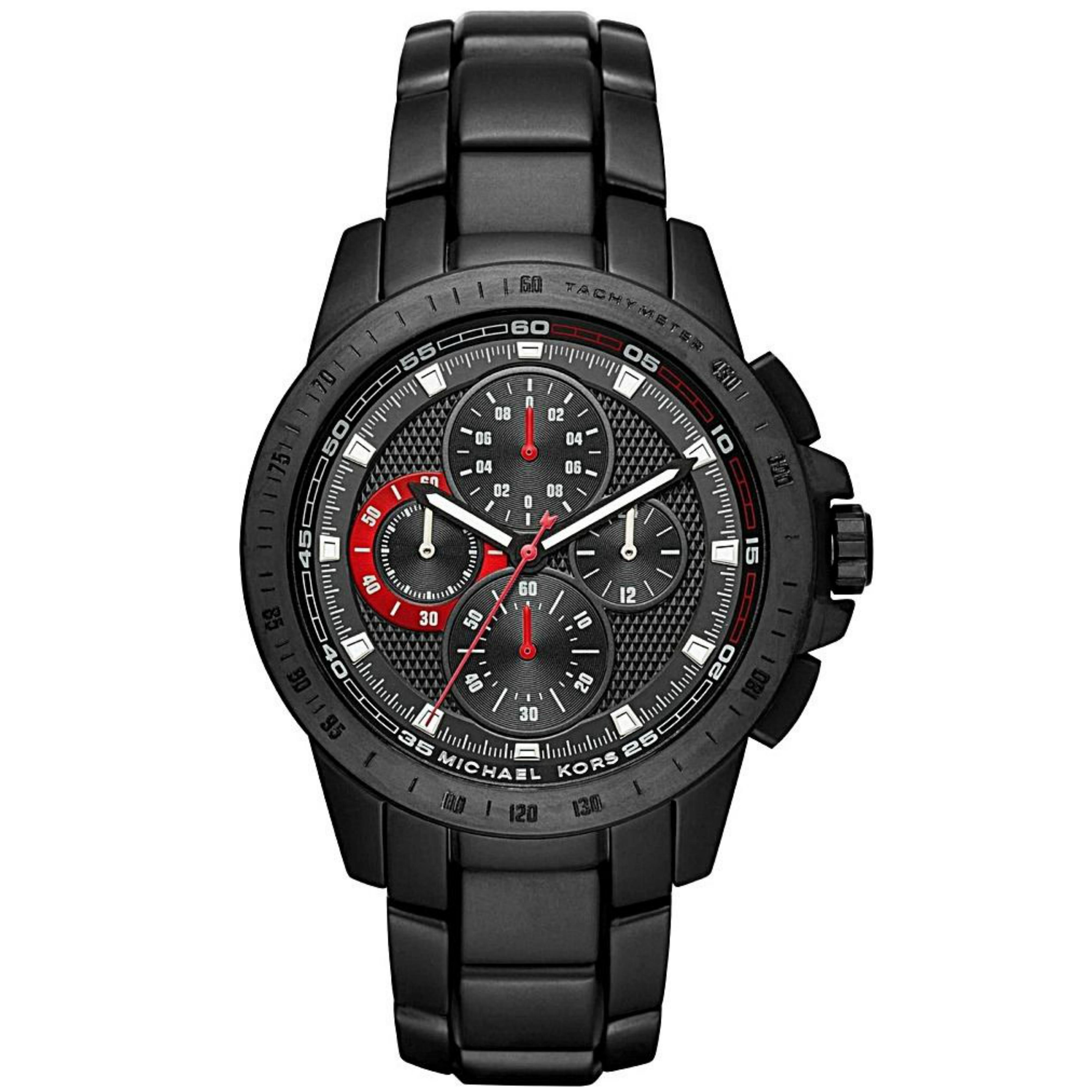Michael Kors Ryker Men's Black Dial Chronograph Round Analog Wrist Watch MK8529