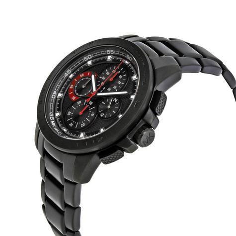 Michael Kors Ryker Men's Black Dial Chronograph Round Analog Wrist Watch MK8529 Thumbnail 2