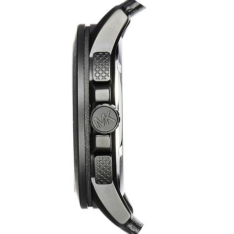 Michael Kors Ryker Men's Chronograph Black Leather Strap Round Dial Watch MK8521 Thumbnail 3