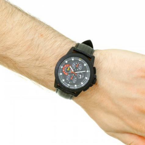 Michael Kors Ryker Men's Chronograph Black Leather Strap Round Dial Watch MK8521 Thumbnail 4