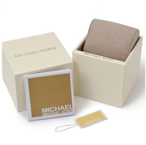 Michael Kors Gage Men's Black Dial Tan Leather Strap Round Chrono Analog Watch Thumbnail 7