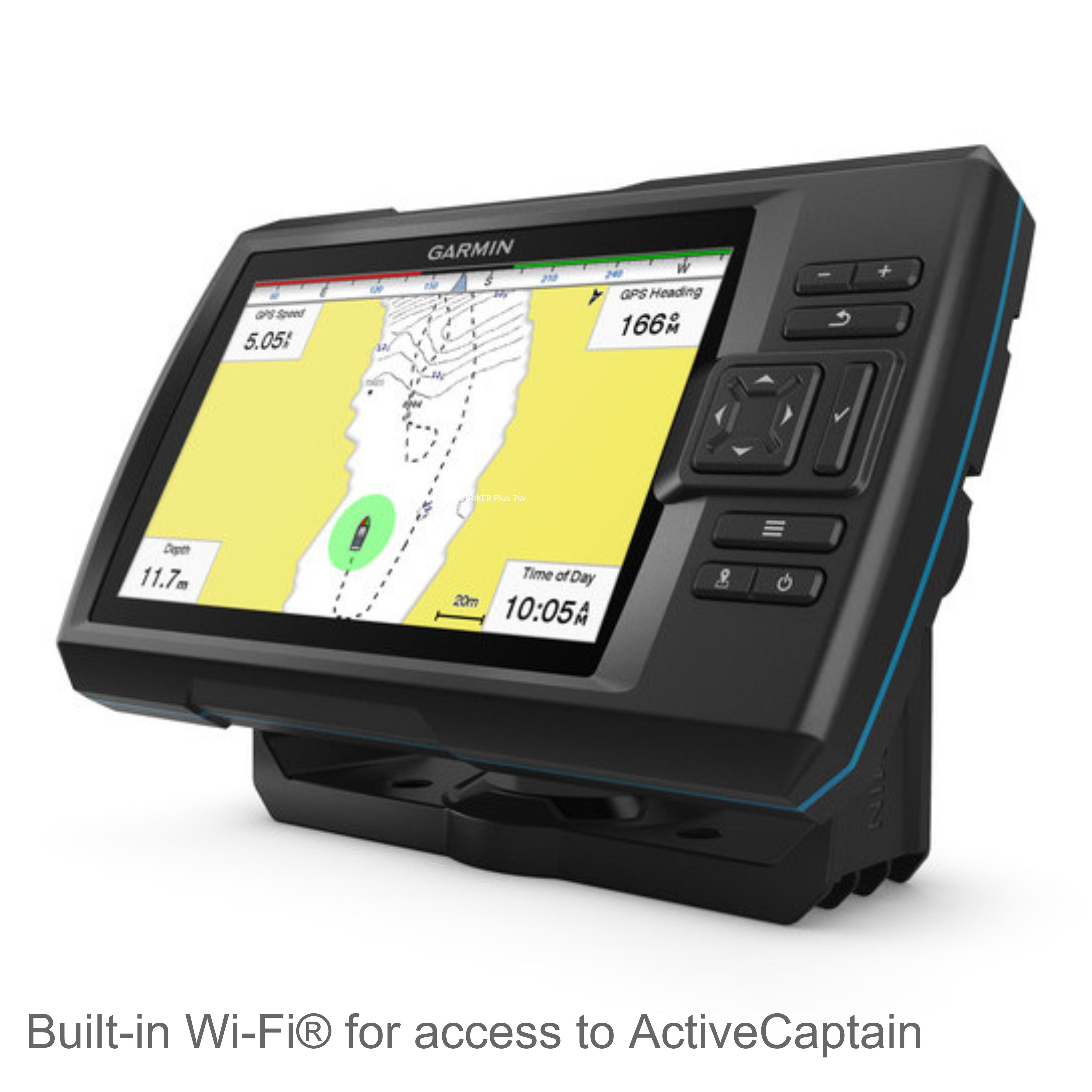 Garmin striker plus 7sv waterproof gps fish finder marine for Fish finder apps
