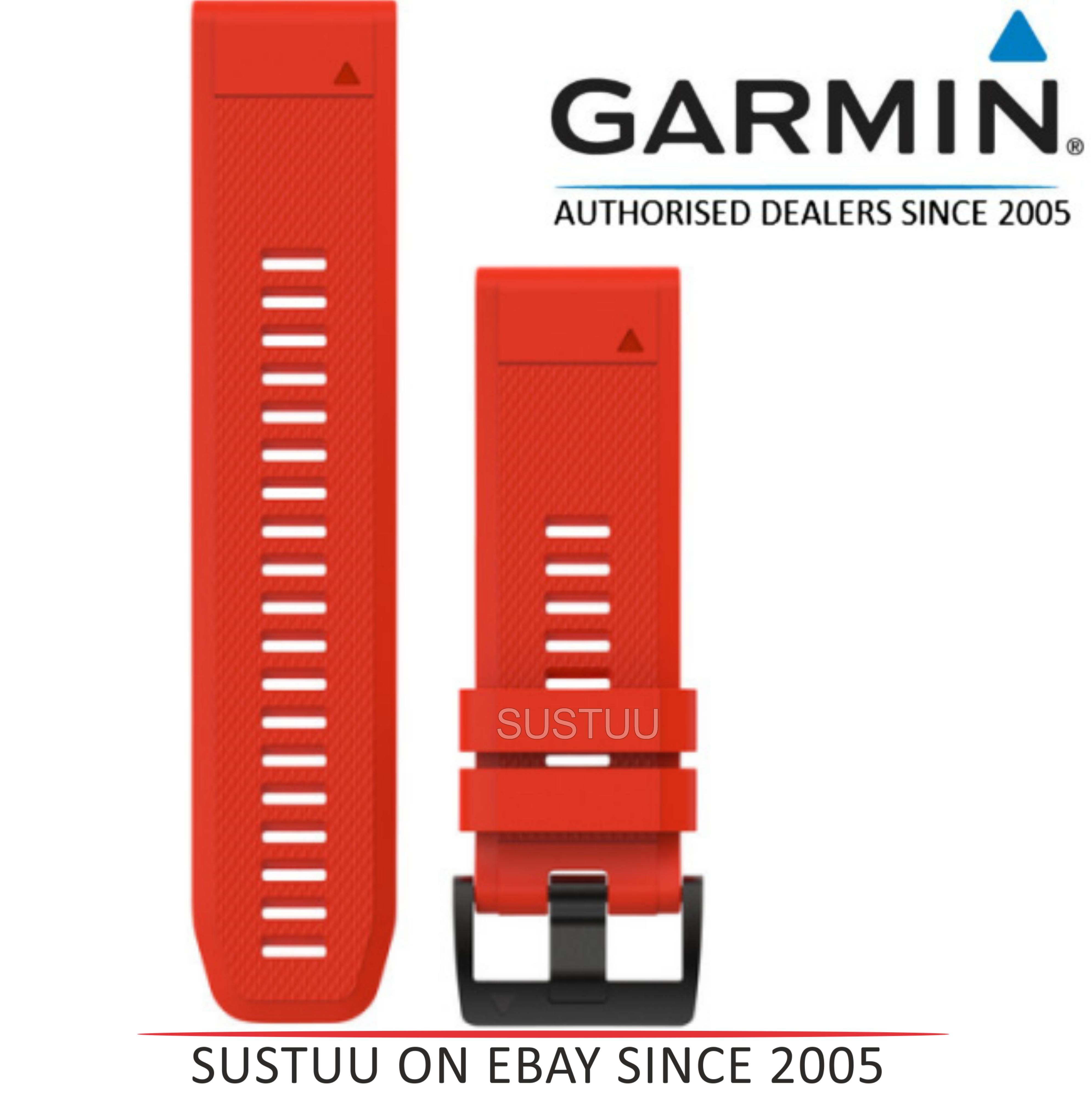 Garmin Quickfit 26mm GPS Watch Strap/ Band?For Fenix 3 & Fenix 5X?Red Silicone