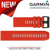 Garmin Quickfit 26mm Watch Strap/ Band?For Quatix 3-tactix Bravo?Red Silicone