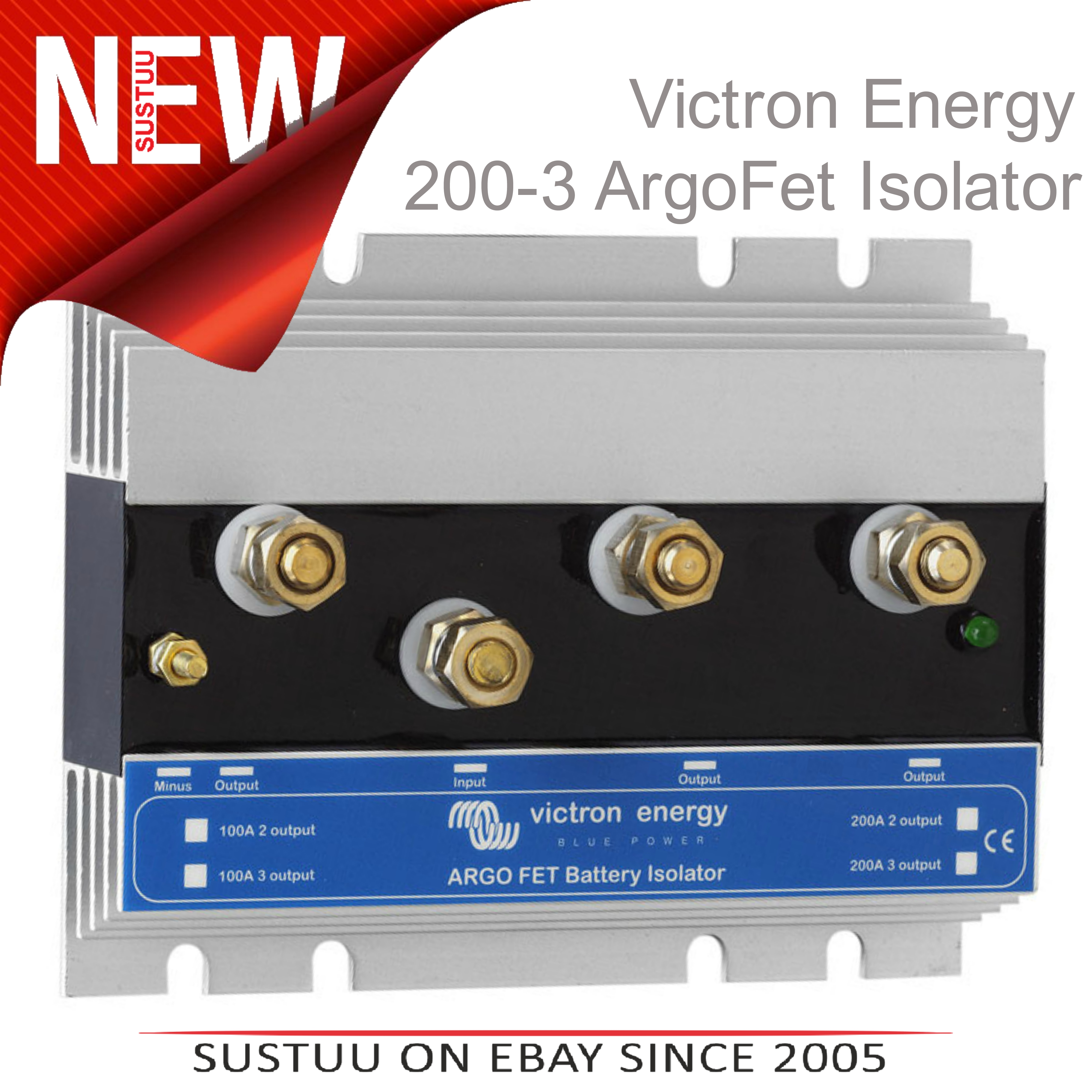 Victron Energy 200 3 Argo Fet Battery Isolator3 Batteries 200am8 How Does A Isolator Work Sentinel 200a