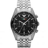 Emporio Armani Men's Black Dial Chronograph Analogue Round Wrist Watch AR5983