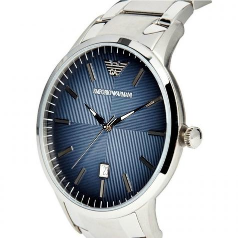 Emporio Armani Renato Blue Analog Metal Dial Silver Bracelet Men's Watch -AR2472 Thumbnail 3
