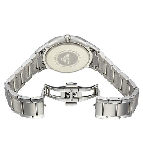 Emporio Armani Renato Blue Analog Metal Dial Silver Bracelet Men's Watch -AR2472 Thumbnail 4