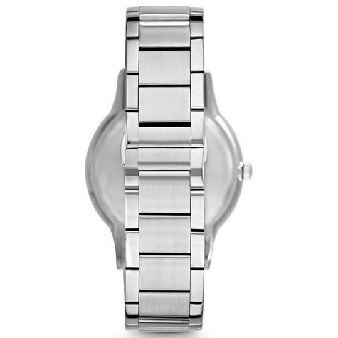 Emporio Armani Renato Blue Analog Metal Dial Silver Bracelet Men's Watch -AR2472 Thumbnail 5