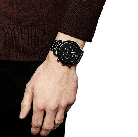 Emporio Armani Men's Chronograph Stainless Steel Black Brushed Dial Watch-AR1895 Thumbnail 6