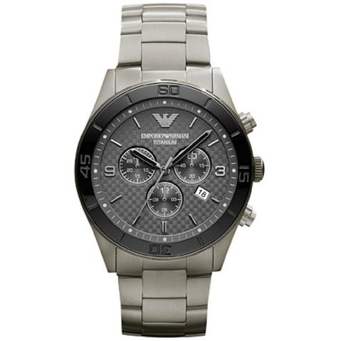Emporio Armani Sportivo Men's Chronograph Black Dial Round Analog Watch AR9502 Thumbnail 1