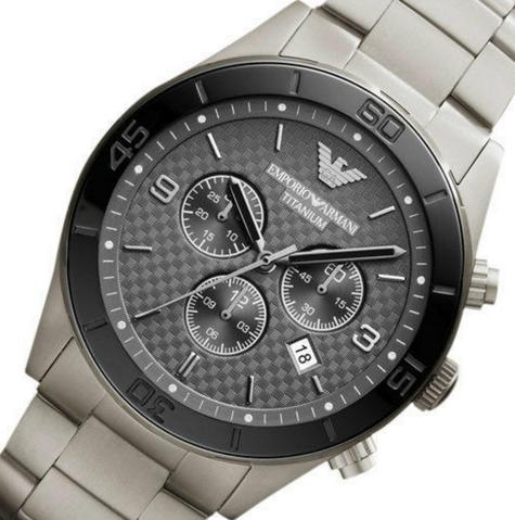 Emporio Armani Sportivo Men's Chronograph Black Dial Round Analog Watch AR9502 Thumbnail 4