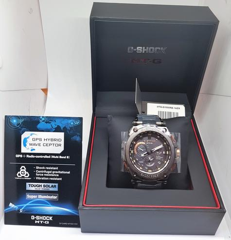 Casio MTG-G1000RB-1AER G-shock Men`s Watch|Solar Energy|Stainless Steel Band|NEW Thumbnail 2