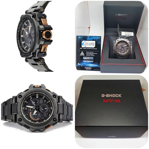 Casio MTG-G1000RB-1AER G-shock Men`s Watch|Solar Energy|Stainless Steel Band|NEW Thumbnail 1