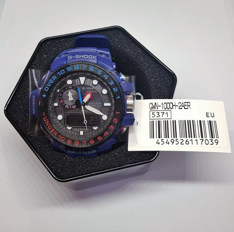 Casio G-shock 55.8 mm Radio Controlled Marine Watch|Tide Graph|Storm Alarm|Blue| Thumbnail 1