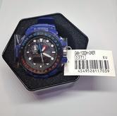 Casio G-shock 55.8 mm Radio Controlled Marine Watch|Tide Graph|Storm Alarm|Blue|