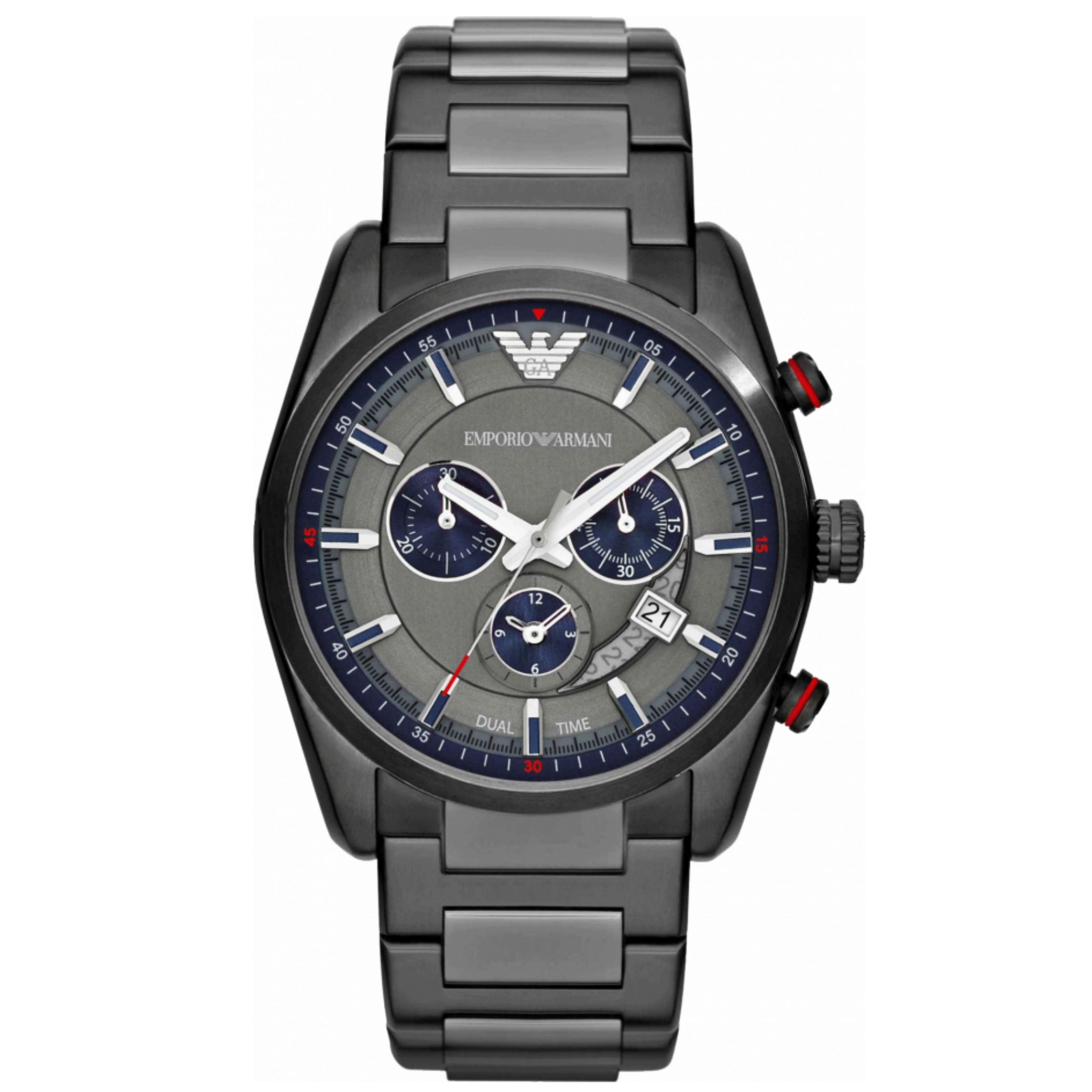 Emporio Armani Sportivo Gent's Stainless Steel Chronograph Round Watch AR6037